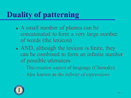 Duality Of Patterning Interesting 48 Linguistics Week 48 What Do Linguists Do What Is Language Ppt