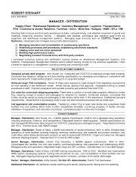 Cover Letter Logistics Resume Global Resume Warehouse Manager