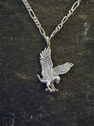 sterling silver eagle pendant on