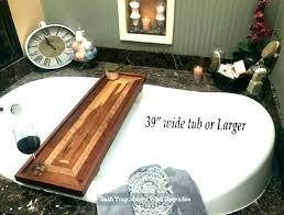 tub wood wooden bathtub tray listing for tubs bath clawfoot caddy chrome image 0 tub tray
