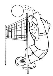 Volleyball Color Pages Practice Volleyball Coloring Page Download Print Online Coloring