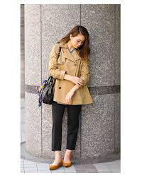 flared short trench coat women s jackets outerwear jacket a line loose large large size her simple basic court office commute winter casual short
