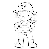 Caillou Pirate Coloring Pages