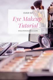 makeup tutorial for hooded maturing eyes over 50