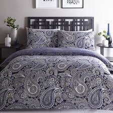paisley topaz navy duvet set double or king size