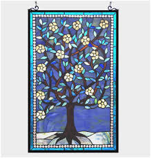 hanging stained glass windows on walls new tiffany style tree of life stained art