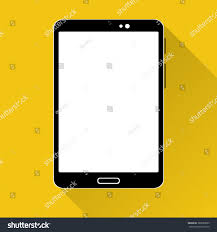 Touch Screen Web Design Black Tablet Icon White Touch Screen Stock Vector Royalty