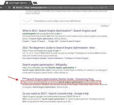 seo tutorial data visualization search results Hobo web co uk