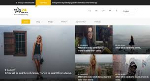 24 News Free Viral Bootstrap Based Html5 Template For News