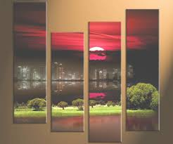 snazzy tulips large fl painting xin oil on stretched large wall for 4 piece wall on large 4 piece wall art with 40 best of 4 piece wall art