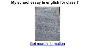 my school essay in english for class google docs