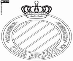Kleurplaat Club Brugge Logo Kleurplaten