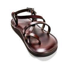 brown handmade leather sandals original style