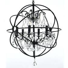 interiors orb 6 light led globe chandelier reviews black metal strap