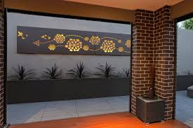 Small Picture Outdoor living area with feature wall art Flower wave custom