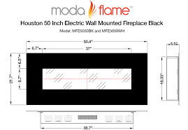"White Electric Fireplace Review | Moda Flame Houston 50"" Wall ..."