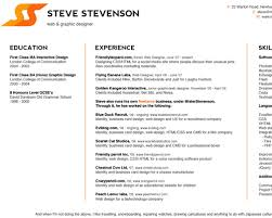 simple resume website