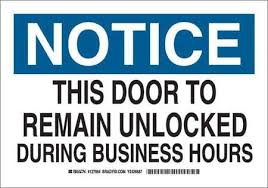 notice sign 10 x 14in blk and ble white