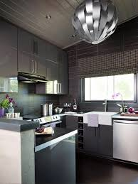 Purple Kitchen Cabinet Doors Kitchen Style White Glass Cabinet Doors And Purple Painted Wall