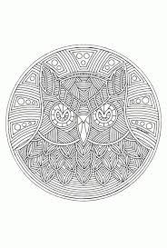 Mandala Kleurplaat Dier
