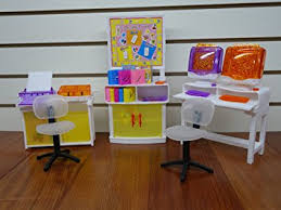 barbie size dollhouse furniture set. barbie size dollhouse furniture computer room play set by huaheng toys o
