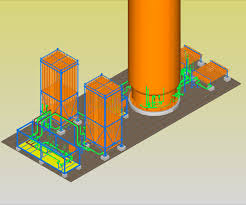 Nitrogen Gas Piping Design 3d Modeling Of Cryogenic System Using Pds