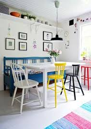 colourful chairs mixed dining chairsdining areadining tabledining