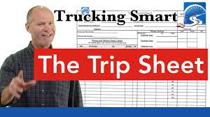 trip sheet the cdl trip sheet trucking smart youtube
