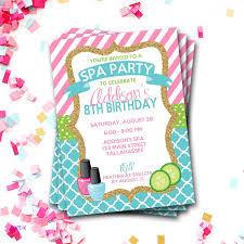 diy birthday invitaciones moderna spa birthday invitation spa party invitation sleepover birthday