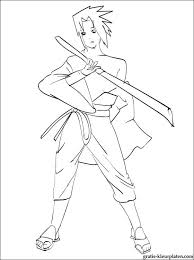 Kleurplaat Sasuke Uchiha Naruto Gratis Kleurplaten