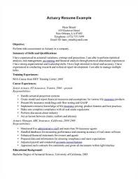 Actuary Resume Key elements to include in an actuary