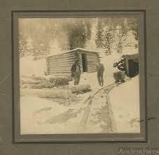 Capt. John Wesley Caldwell outside his silver mine c. 1847