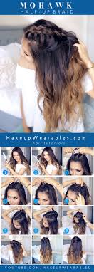 How Todo Hair Style how to do a mohawk braid cute halfup hairstyles hair & makeup 5256 by wearticles.com