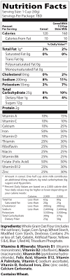 nutrition facts for marshmallow mateys