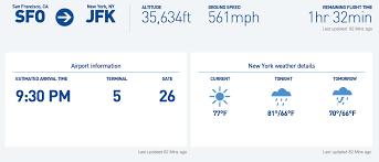 Fly 30 Chart Fly Fi Landing Page Gives Flight Information Jetblue