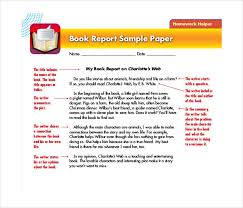 book report templates sample example format book report sample paper template