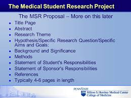 The Penn State College Of Medicine Medical Student Research Project ...