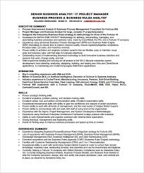 Senior Business Analyst Resume Sample Free Resume Templates 2018