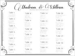 table chart template images of wedding seating free plan word excel lovely reception round or rectangular