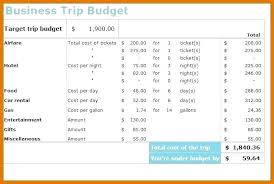 Trip Planner Calculator Trip Planner Spreadsheet Business Travel Budget Template