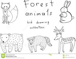 Kids Drawing Of Animals Doodle Collection Of Funny Coloring Page
