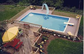 inground pools with diving board and slide. Photo Courtesy Of Kool-air.com Inground Pools With Diving Board And Slide M