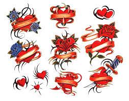 Motiv Tetování Srdce 1064