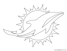 All coloring pages on dolphinkind.com are � copyrighted unless otherwise noted and are for personal use only. Nfl Miami Dolphins Coloring Page Coloring Page Central