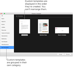 How To Make Flyers On Mac Create A Custom Template In Pages On Mac Apple Support