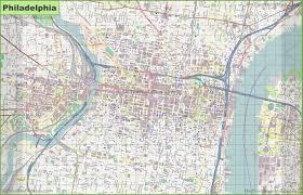 large detailed street map of philadelphia