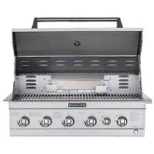 Kitchenaid 5 Burner Gas Grill Builtin Propane Island Head In Decorating