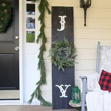 see how easy it is to create a rustic front porch sign using one of
