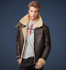 mens shearling leather jacket