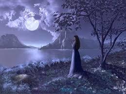 Resultado de imagen de cuadro pareja bañandose noche luna